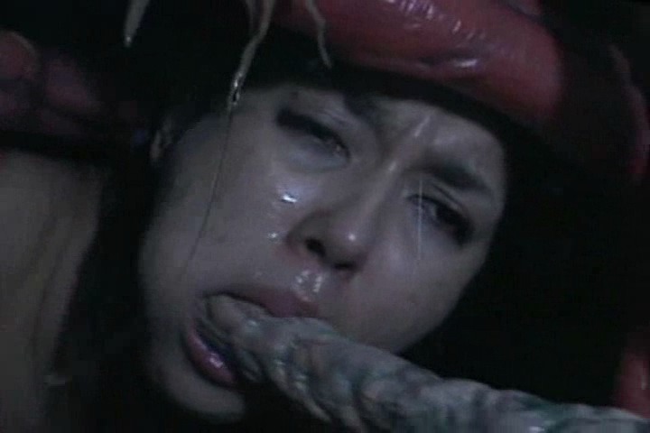 Lustful Asian Bitch Doing Blowjob For Freaky Tentacle