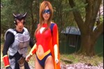 Japanese Heroine Spandexer Gets Beatdown By Villainous Creatures