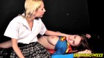 Lesbian Schoolgirl Fulfills Fantasies With Beaten Down Supergirl