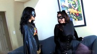 Cat Woman Wrestles With Bat Woman Hannah
