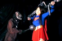 Super Heroine Peril 4 Super Girl Tortured By Skeletal Creature