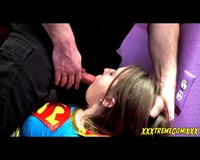 Weakened Super Girl Brooke Submits to Villains Cock