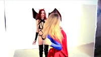 Succubus Demoness Assaults Worlds Finest Superheroines