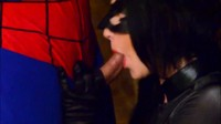 Catwoman Gives Spider Man A Blowjob
