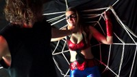 Busty Spidergirl Caught In Villains Web