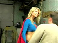 Blonde Supergirl Fights Villains Part 2