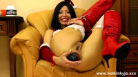 HotKinkyJo Festive Fun With Fist And Ball In Her Ass