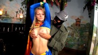 Sexy Blonde Supergirl Taken By Villain