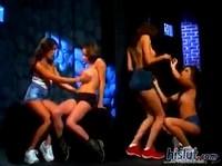 Interracial Lesbian Orgy