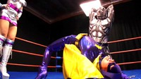 Bat Girl Beat Down In Wrestling Ring