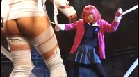 Mummy Ravages Bound Japanese Schoolgirl Heroine