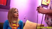 Blonde Super Girl Tied Up