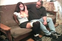Older Man Gropes Tied Up Cali