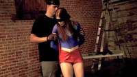 Superheroine Beats Up bad Guys Blindfolded