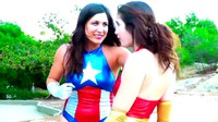 Hot Heroines Battle In The Park