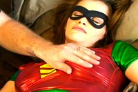 Sleeping Heroine Robin Groped
