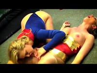 Super Gal And Wonder Babe Battle