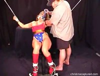 Villain Gropes Bound Wonder Gal