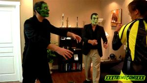 Masked Burglars Defeat Heroine