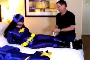 Voluptuous Bat Girl Bound And Groped