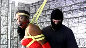 Ebony Amazon Woman Tied Up