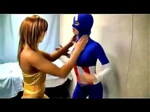 Captain Americana Defeated By Fembot
