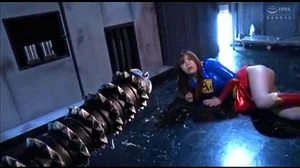Japanese Supergirl Drilled By Villains Mechanical Cock
