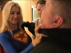 British Superwoman Thwarts Henchman