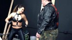 Bulge Teaches Sexy Brunette Tiffany Chase Lesson With Another Beatdown