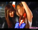 Japanese Sailor Superheroine Bound and Groped By Villainess