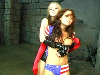 All American Girl Defeated And Fondled