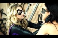Violet and Nightshadow Superheroine Battle