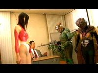 Small Breasted Japanese Heroine Defends Earth From Depraved Aliens