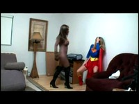 Feline Villainess Beats Down Super Girl And Plays With Her Kitty
