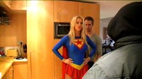 Sexy British Blonde Becomes Supergirl In Wish Fulfillment 2