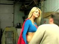 Blonde Supergirl Fights Villains Part 2