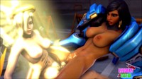 3D Animation Over Watch Girls Getting Drilled 7