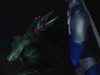 Japanese Blue Ultrawoman Giantess