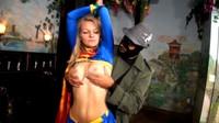 Sexy Blonde Supergirl Taken By Villain