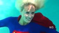 Supergirl Takes A Swim