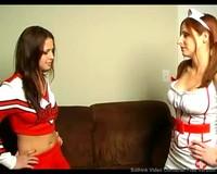 Cheerleader Cali Fighting Naughty Nurse Paris