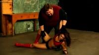Big Man Beats Down Brunette Heroine