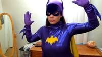 Frozen And Bound Bat Girl