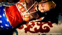 Slender Wonder Gal Tied Up On Floor
