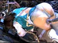 Alien Tentacles Probe Japanese Heroine