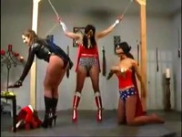 Villainess Ties Up And Molests Two Wonder Babes