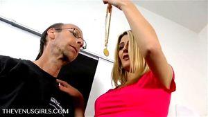 Sexy Blonde Daughter Hypnotizes Dad