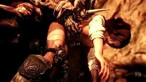 3D Animation Warrior Ava Skeleton Knights Bitch
