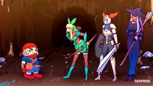 Cartoon Creatures Have Their Way With Three Female Adventurers
