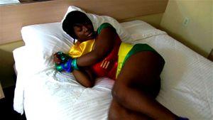 Black Robin Struggles To Escape Her Bonds